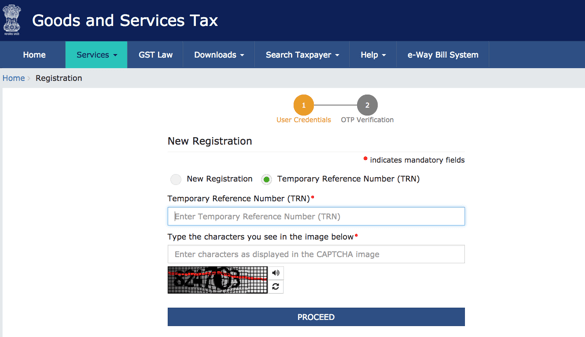 GST registration part b